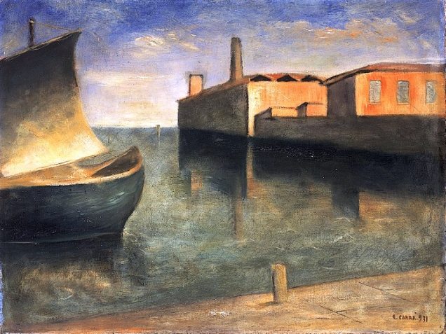Carlo Carrà, Paesaggio - Laguna.