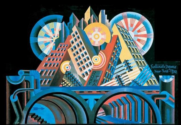 Fortunato Depero, grattacieli e tunnel.