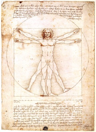 Leonardo Da Vinci, Uomo vitruviano.