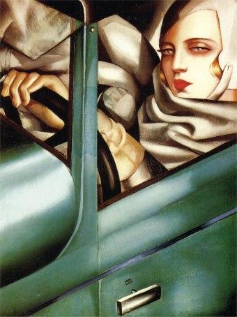 Tamara-De-Lempicka-autoportrait-tamara-dans-la-bugatti-verte