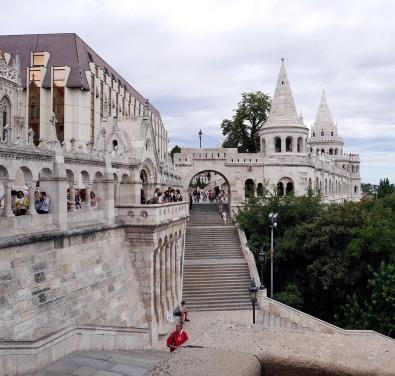 Il bastione dei pescatori sulla collina di Buda.