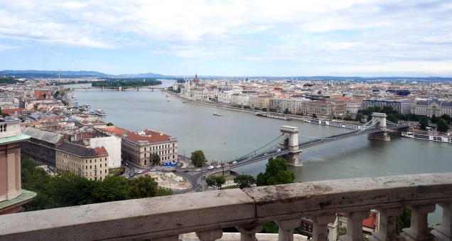 Budapest vista dalla cupola del Palazzo Reale.