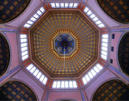 La sinagoga progettata da Otto Wagner.