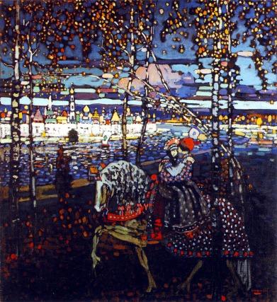 Vassily Kandinsky, Coppia a cavallo.