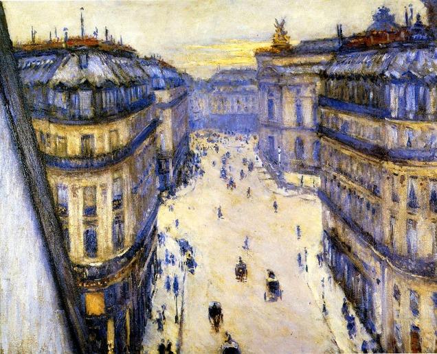 Gustave Caillebotte, Rue Halevy vista dal sesto piano.