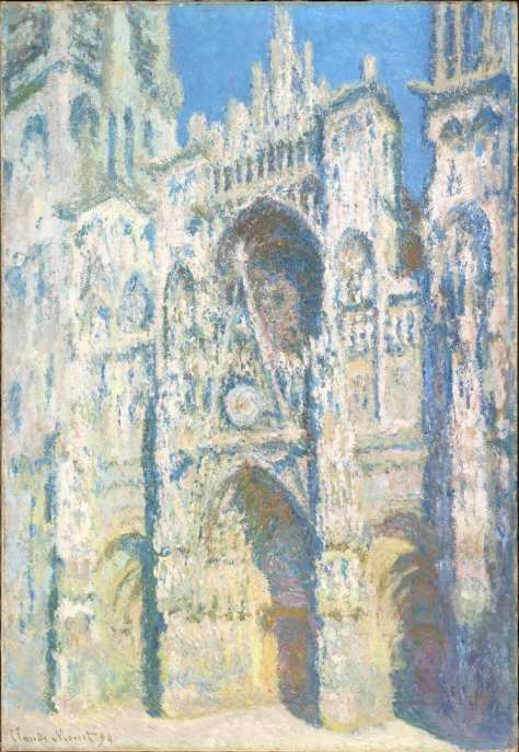 Claude Monet, Il portale e la torre Saint-Romain in pieno sole.