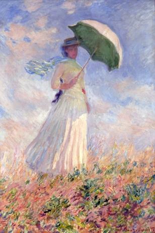 Claude Monet, Prova di figura all'aria aperta, Donna con il parasole girata verso destra