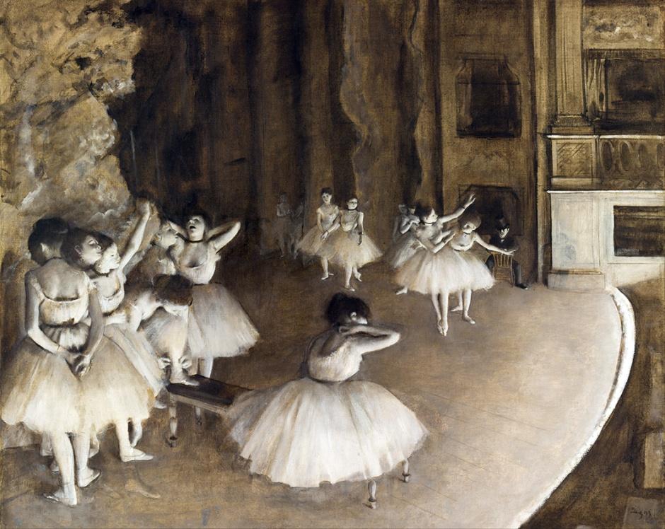 Edgar Dega, Prove del balletto sul palco.
