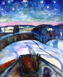 Edvard Munch, starry night.