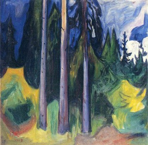 Edvard Munch, forest.