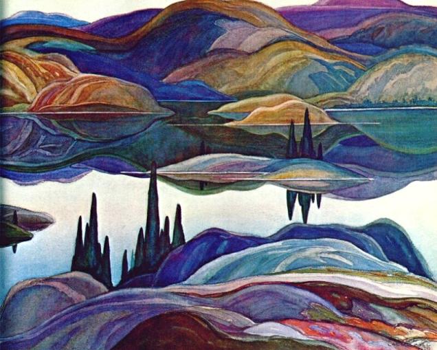 F. Carlmichael, Mirror lake.