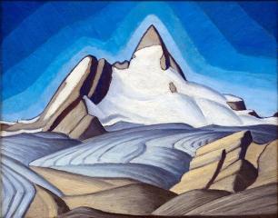 Lawren Harris, Sketch for Isloation Peak.