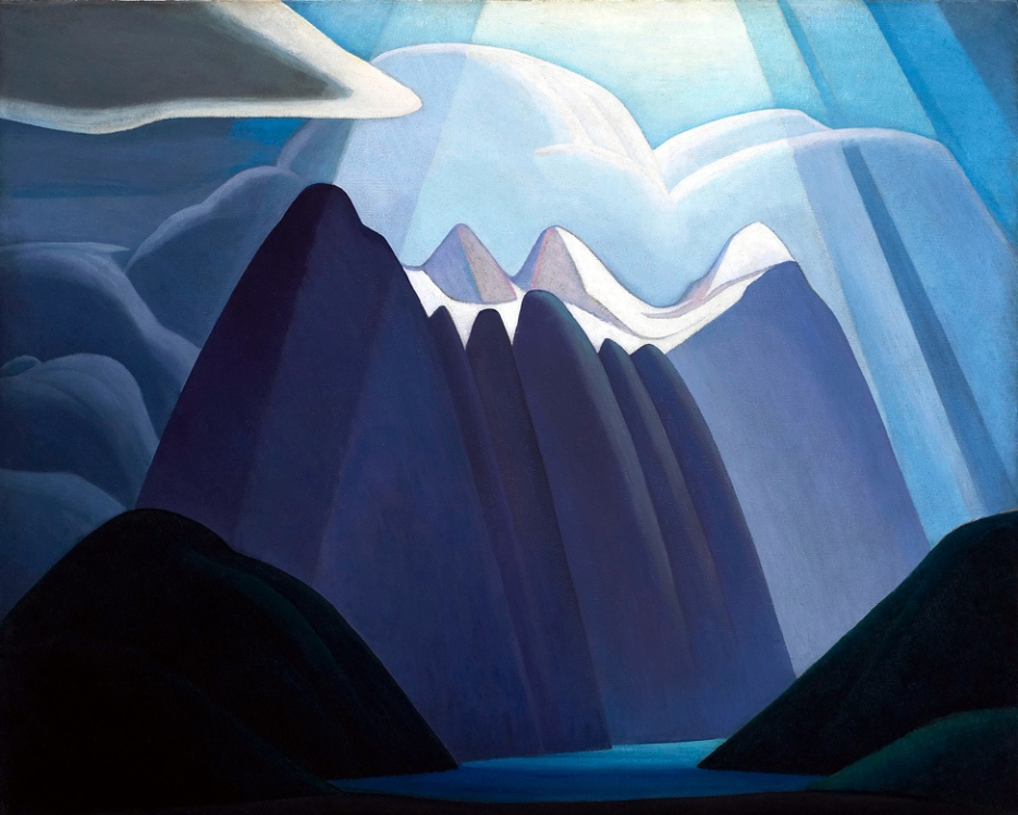 Lawren Harris, Untitled mountain landscape.