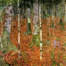 Gustav Klimt, fattoria con alberi di betulle.
