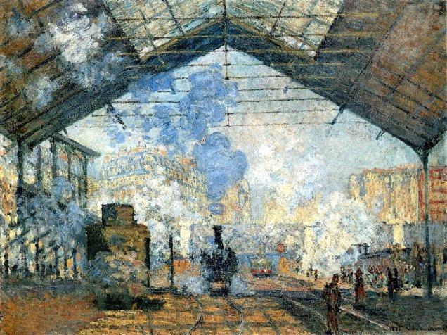 Claude Monet, la stazione di Saint-Lazare.