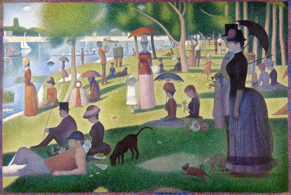 Georges Seurat, domenica alla Grande Jatte.