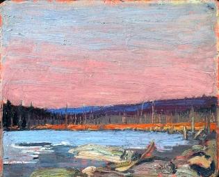 T. Thomson, Un lago del nord.