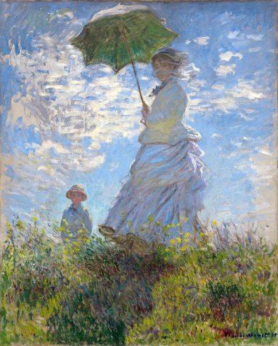 Claude Monet, Donna con l'ombrellino, Mme Monet e suo figlio.