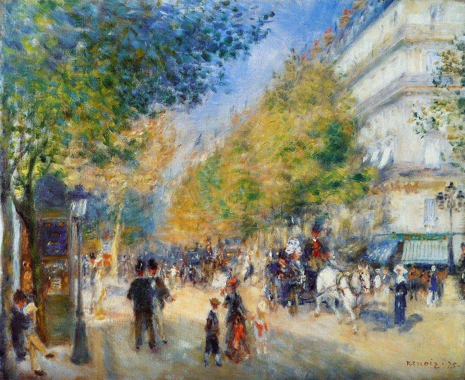 Pierre Auguste Renoir, Boulevard di Parigi.