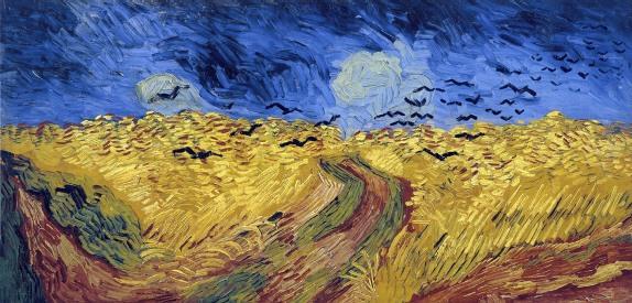 Vincent Van Gogh, Campo di grano con volo di corvi.
