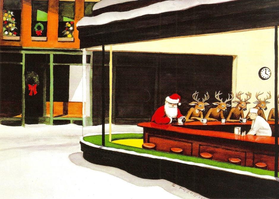 Natale-Hopper-parodie-arte
