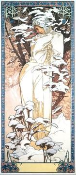 Alfons Mucha, l'inverno.