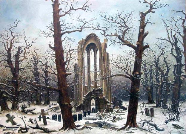 Caspar David Friedrich, Cimitero del monastero nella neve