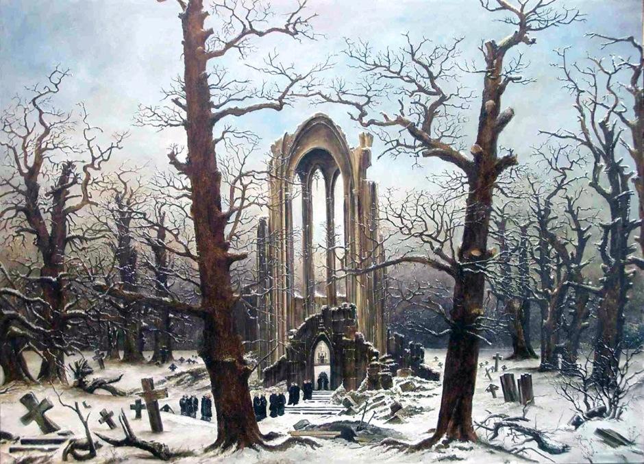 caspar-david-friedrich-Monastery-Graveyard-in-the-Snow