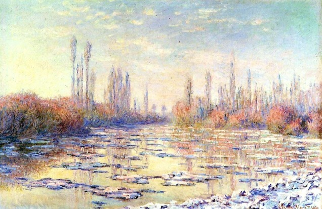 claude monet-floating-ice-on-the-seine