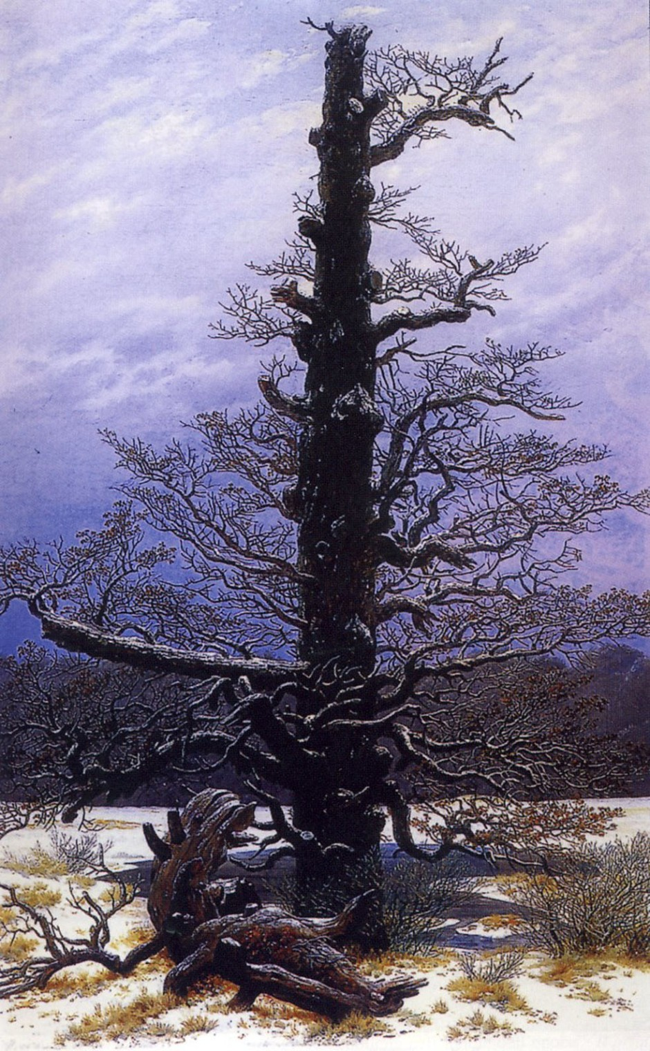 DAVID CASPAR FRIEDRICH-Querce nella neve