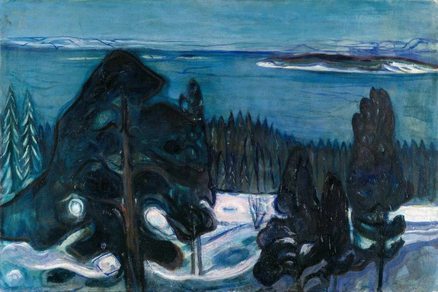 Edvard Munch, winter night