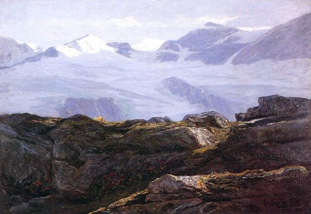 emilio longoni, ghiacciaio di cambrena