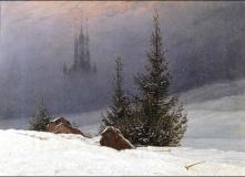 Caspar David Friedrich, Winter landscape.
