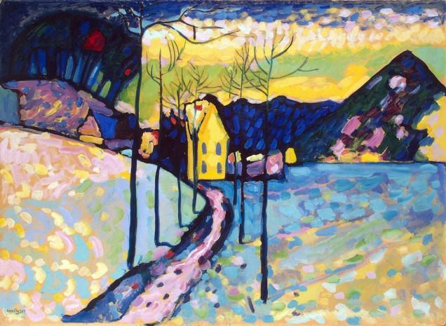 Vassily Kandinsky, Paesaggio invernale.