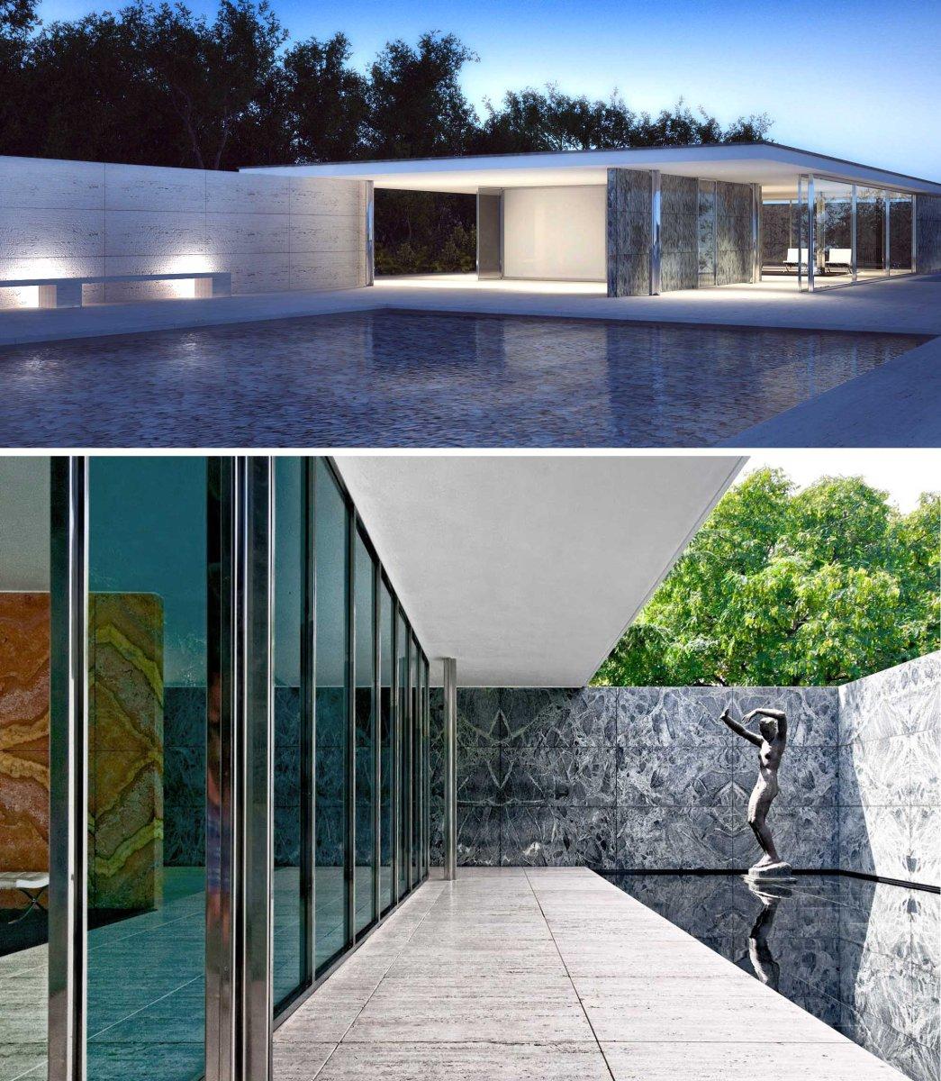 Il padiglione pi bello e famoso mai progettato per un for Architettura contemporanea barcellona