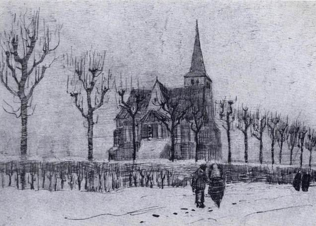 van-gogh-the-church-in-nuenen-in-winter-1883