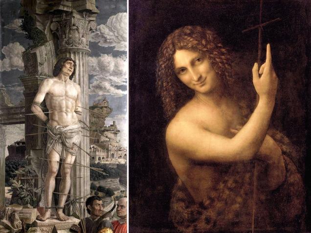 Mantegna-San-Sebastiano-Leonardo-san-giovanni-battista