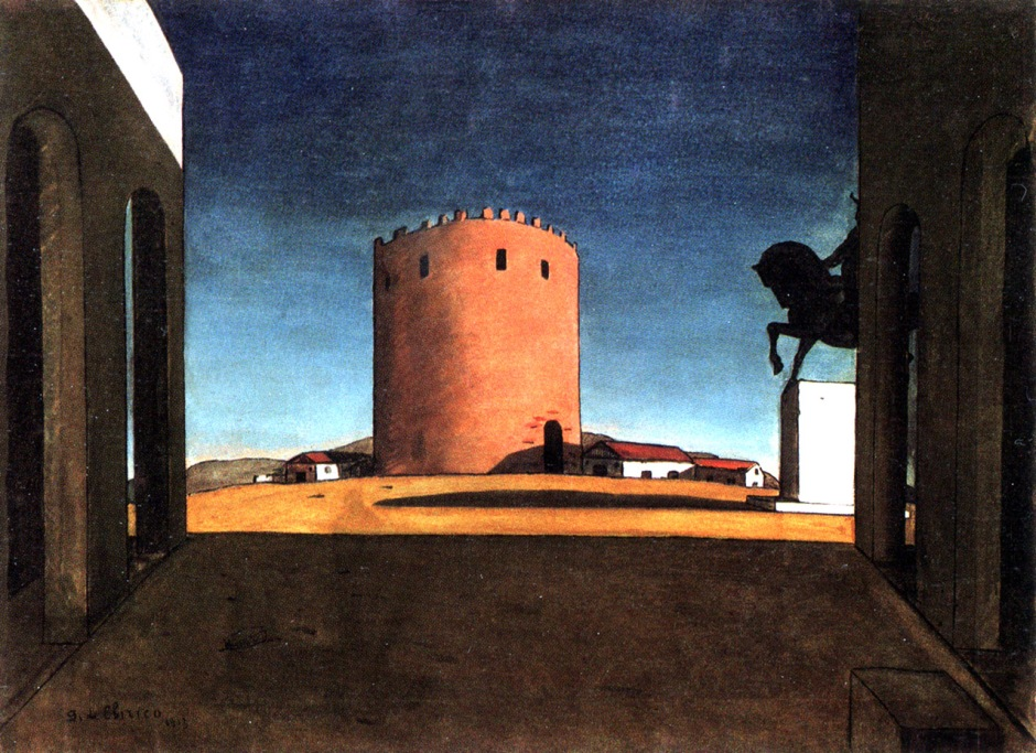 G.De Chirico, La torre rossa (La Tour Rouge), 1913