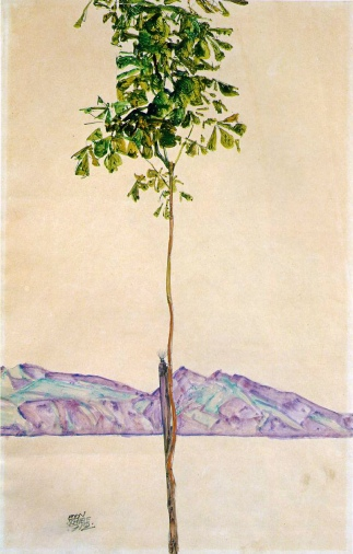 Egon Schiele, Castagno sul Lago di Costanza