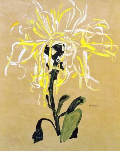 Egon_Schiele_-_Gelbe_Chrysantheme_-_1910