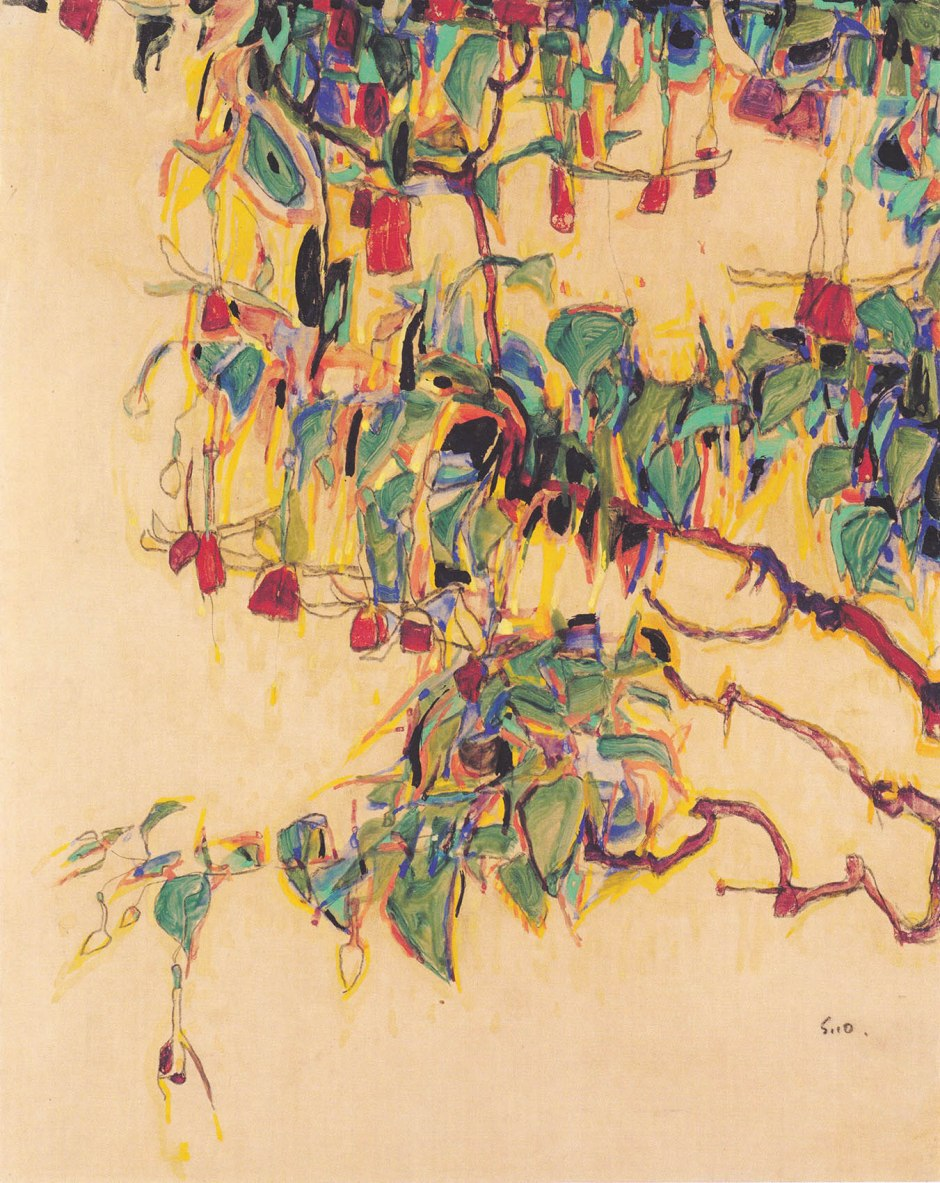 Egon_Schiele_-_Sonnenbaum_-_1910