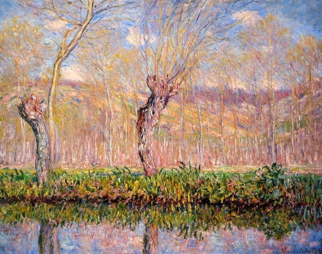 monet-The-Banks-of-the-River-Epte-in-Spring