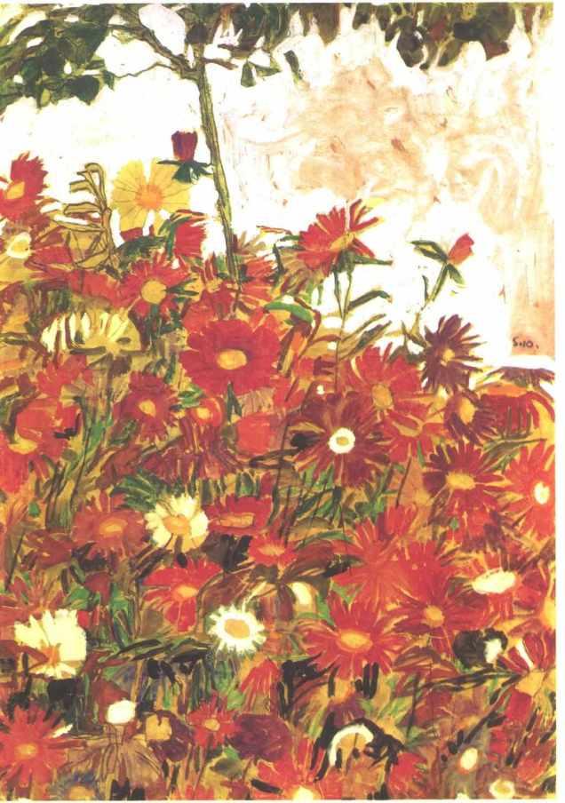 Schiele_-_Blumenfeld