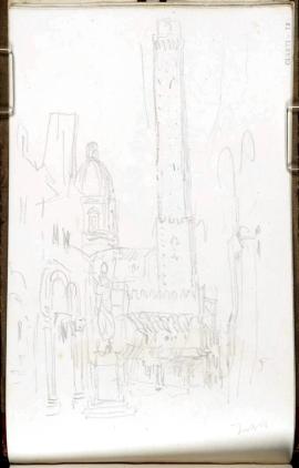 J. M. W. Turner, Torre Griselda e Torre degli Asinelli, Bologna.