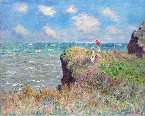 Claude Monet, Passeggiata sulla scogliera a Pourville.