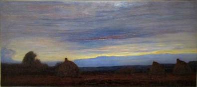 Piet Mondrian, Sera, balle di fieno nei campi.
