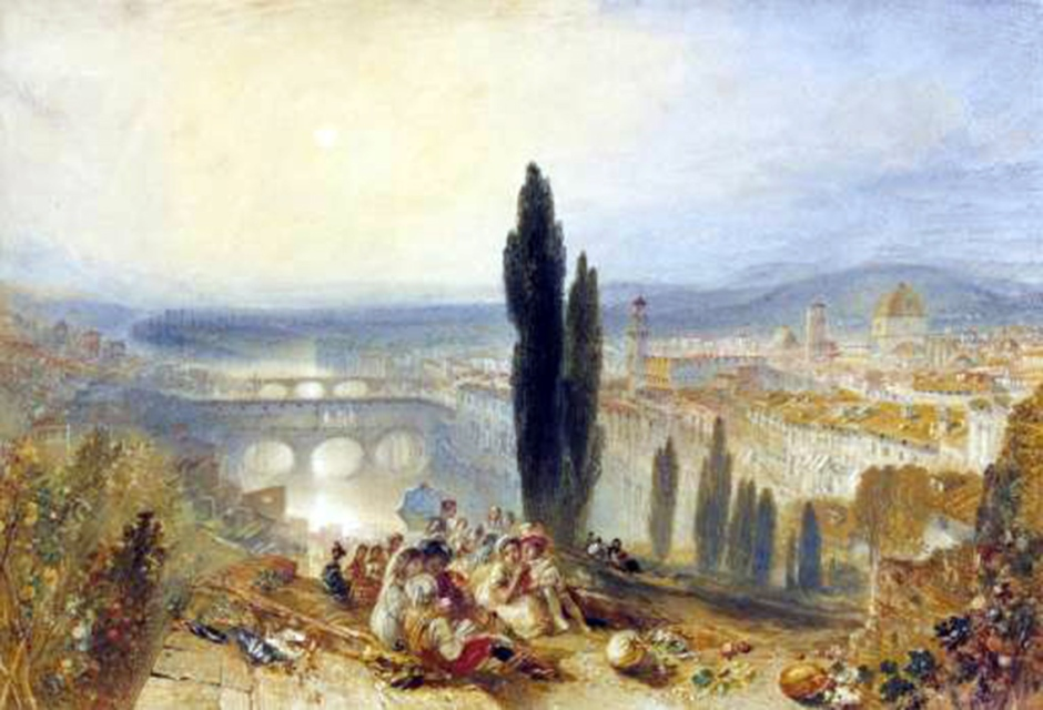 Florence from San Miniato circa 1828 by Joseph Mallord William Turner 1775-1851