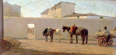 Telemaco Signorini, Il muro bianco.