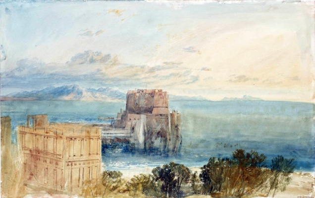 Naples: Monte St Angelo and Capri 1819 by Joseph Mallord William Turner 1775-1851