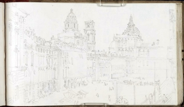 J. M. W. Turner,, Piazza Castello, Torino.